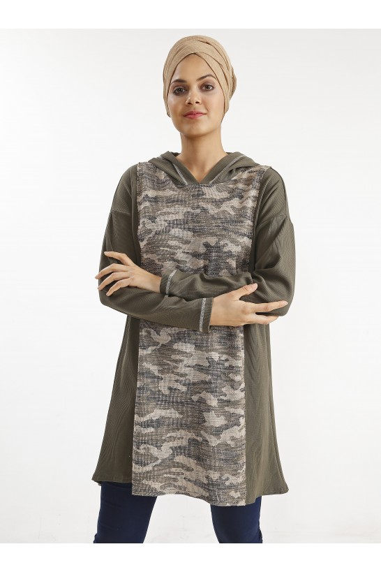 Camouflage Patterned Tunic
