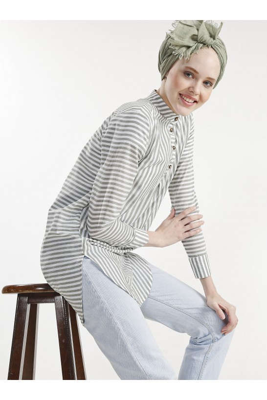 Crew neck Striped Shirt
