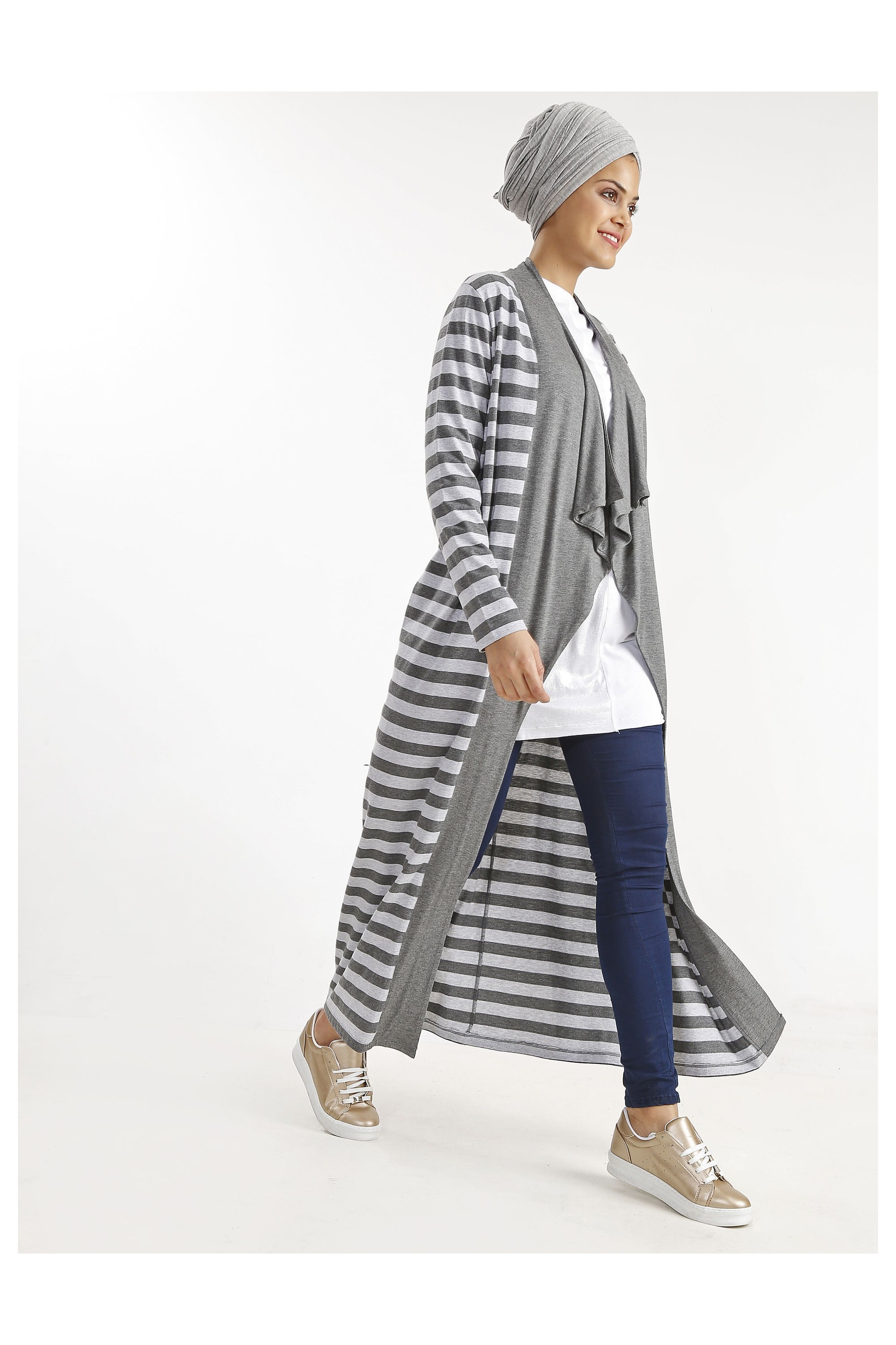 Striped Sport Abaya