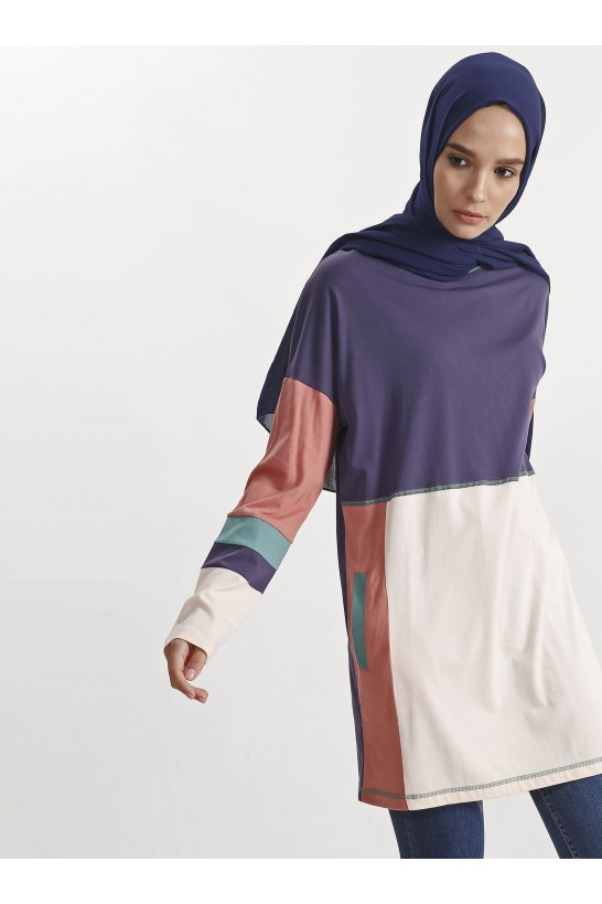 Block Colored Tunic