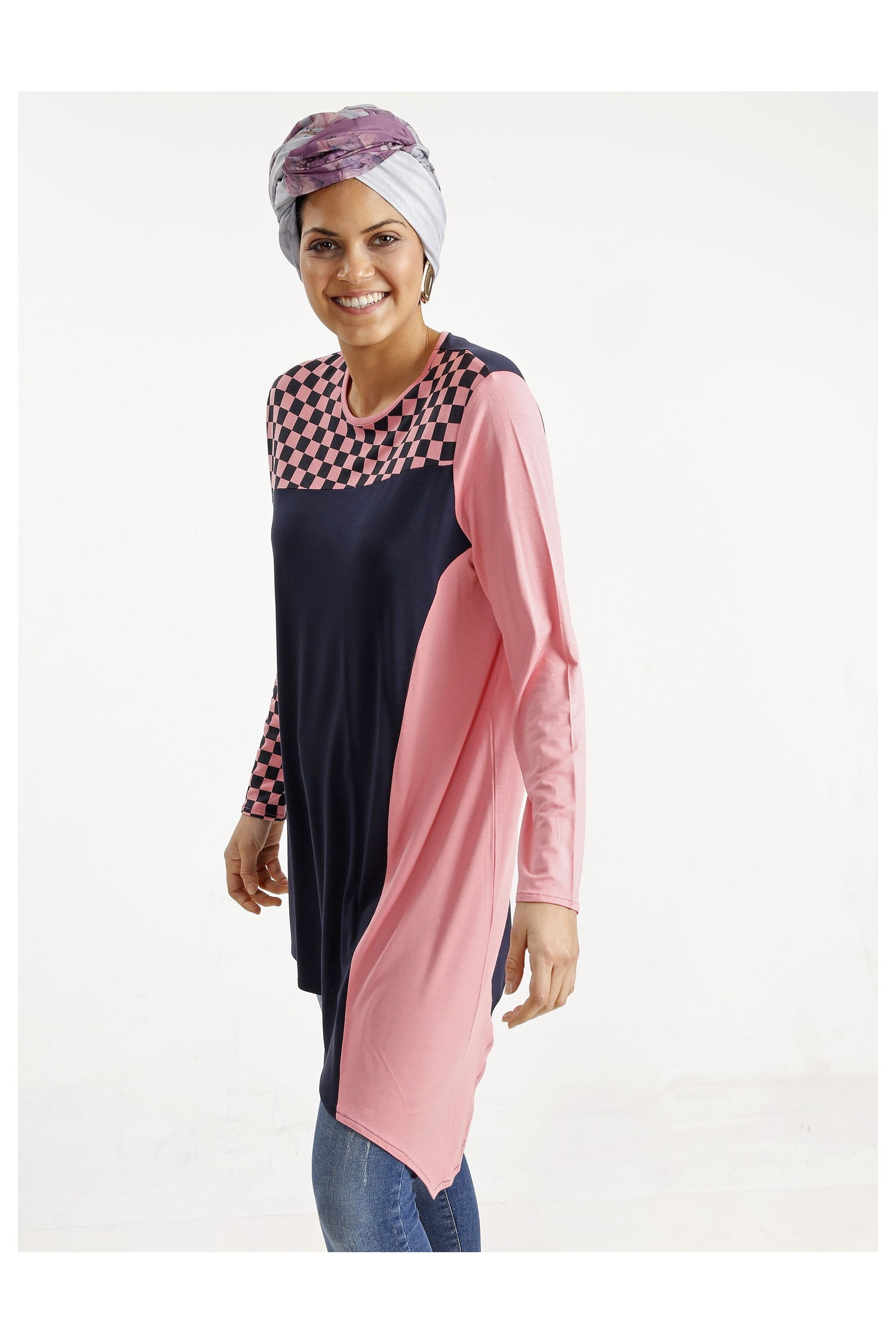 Printed Asymmetric Cutting Tunic