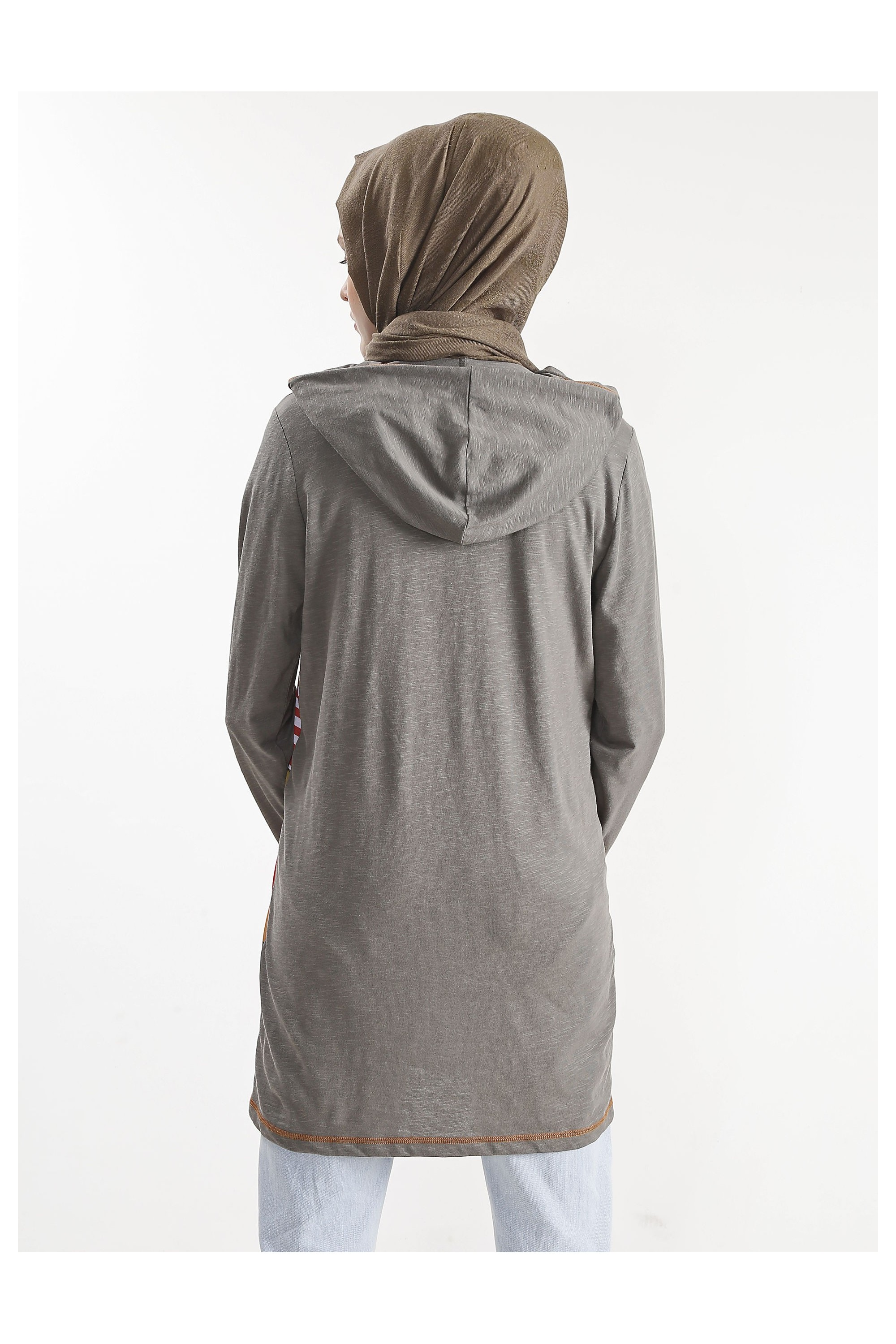 Patterned Hooded Tunic