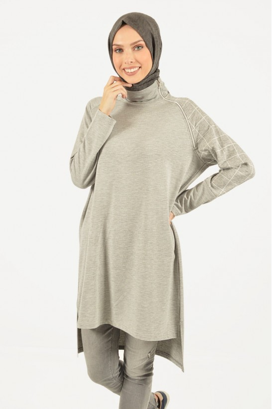 Zipper Detailed Sport Tunic