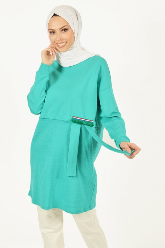 Tassel Detailed Sport Tunic