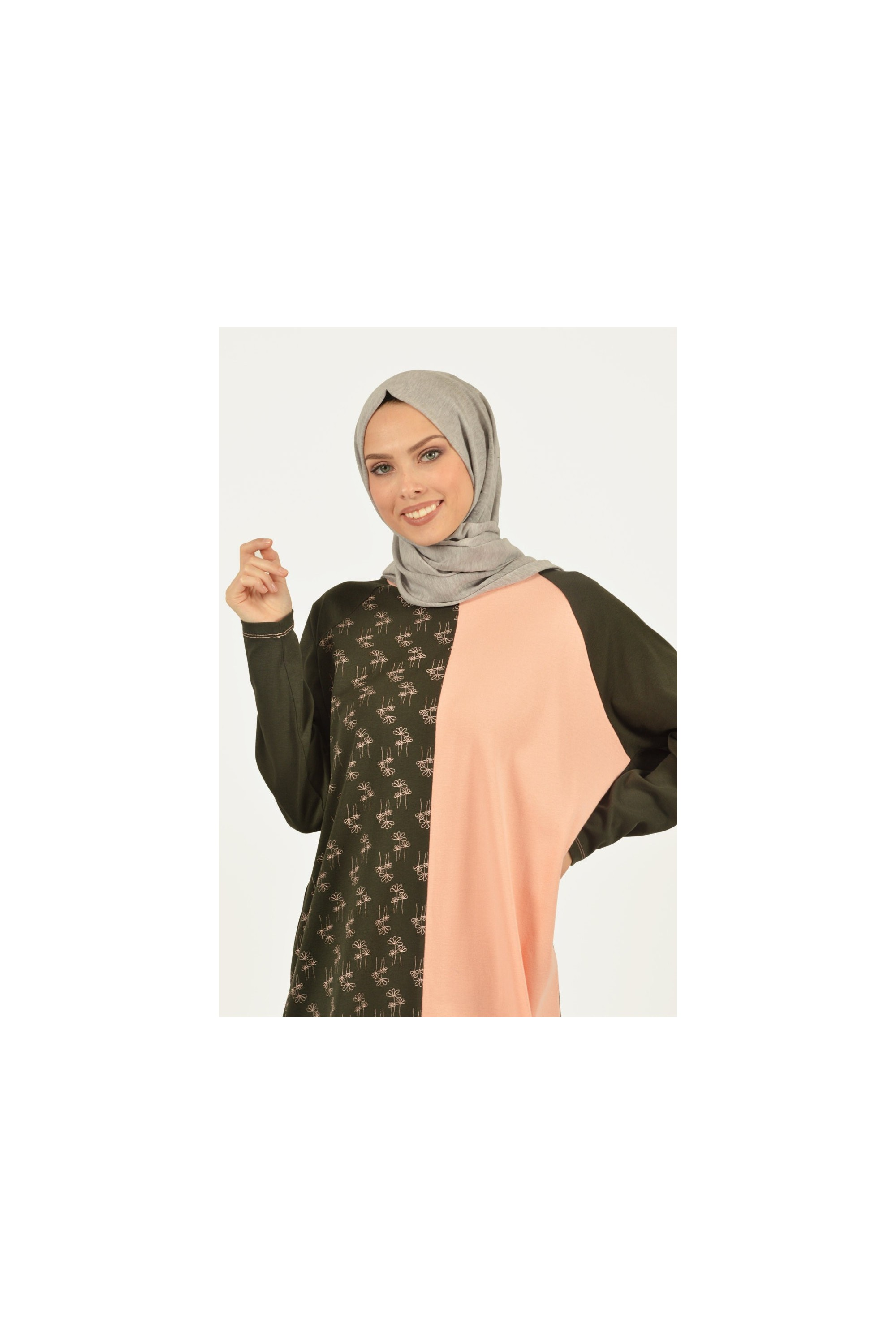 Printed Two-color Tunic