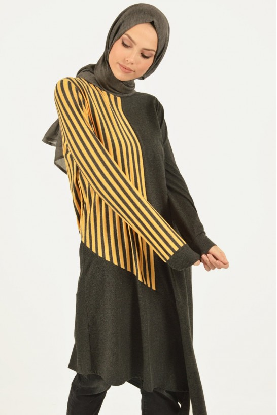 Striped Asymmetric Cut Tunic