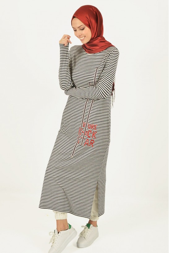 Printed Striped Long Tunic