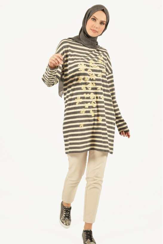 Printed Striped Tunic