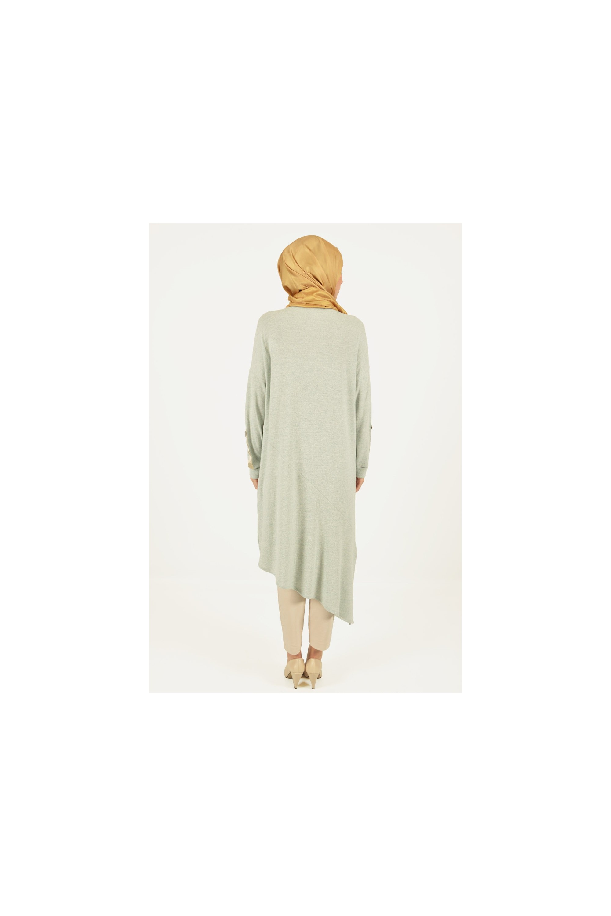 Asymmetric Cutting Knit Tunic