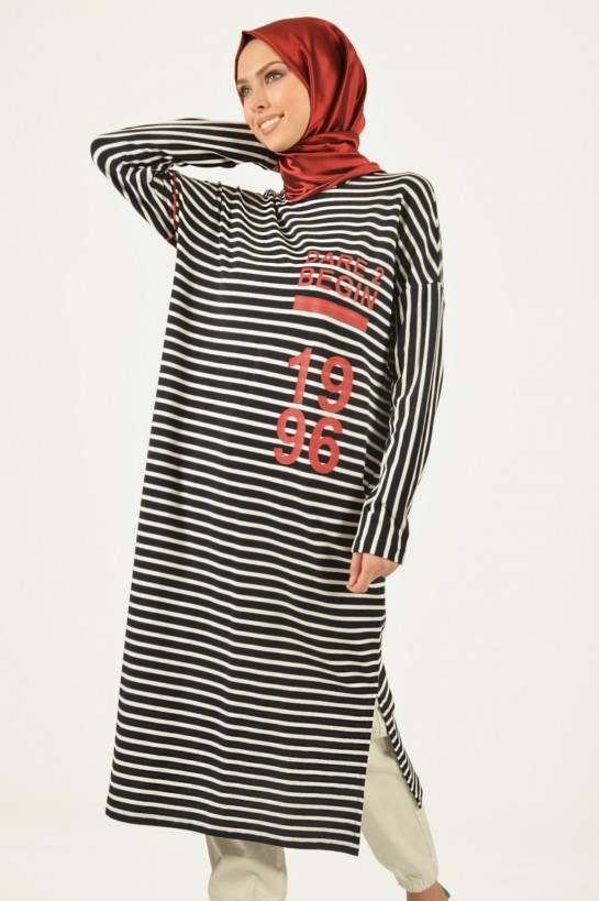 Striped Printed Tunic