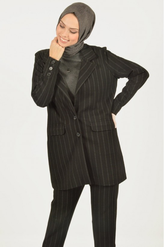 Striped Jacket & Pants Suit