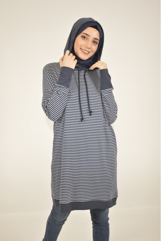 Striped Hooded Tunic