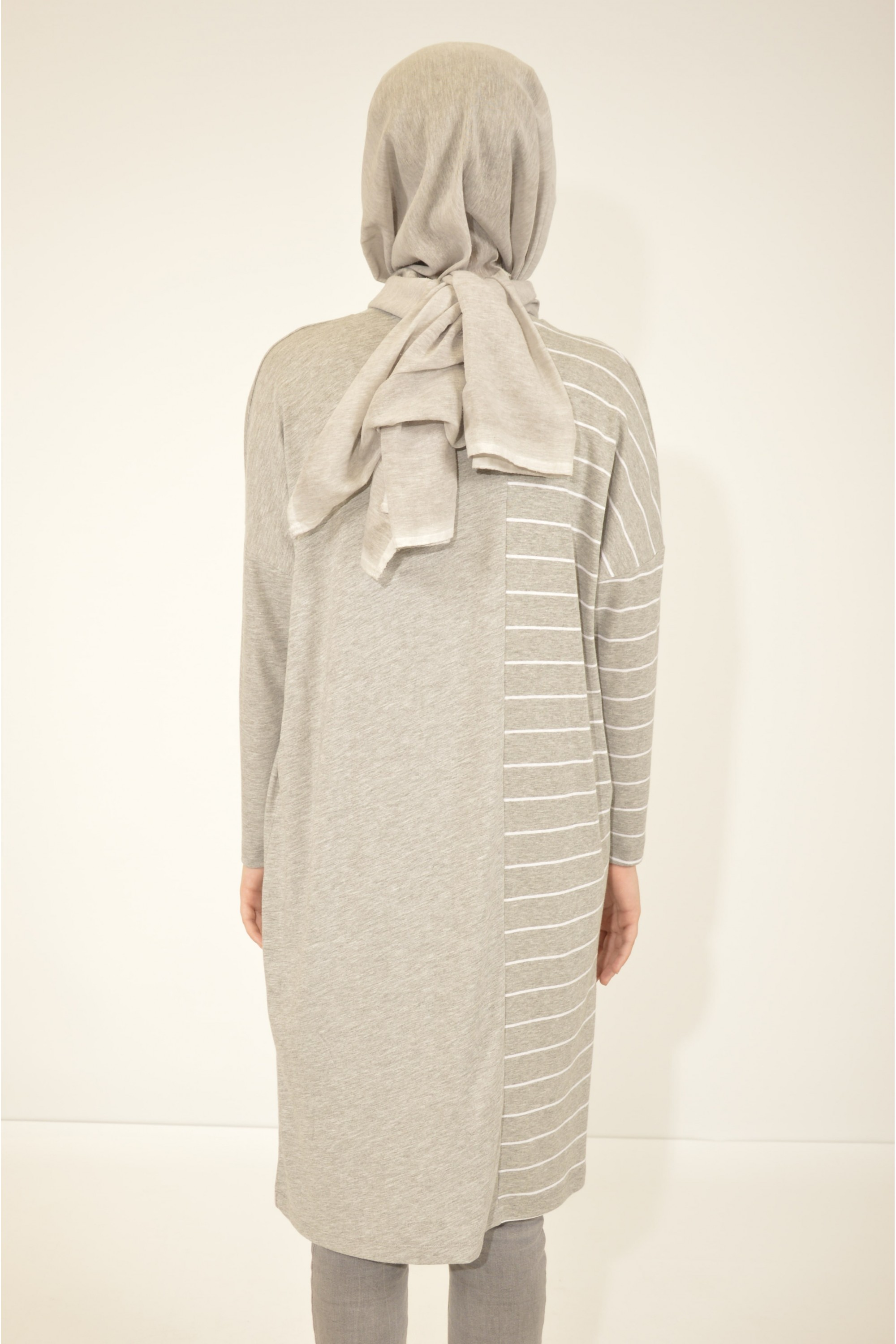 Striped Detailed Striped Loose Tunic