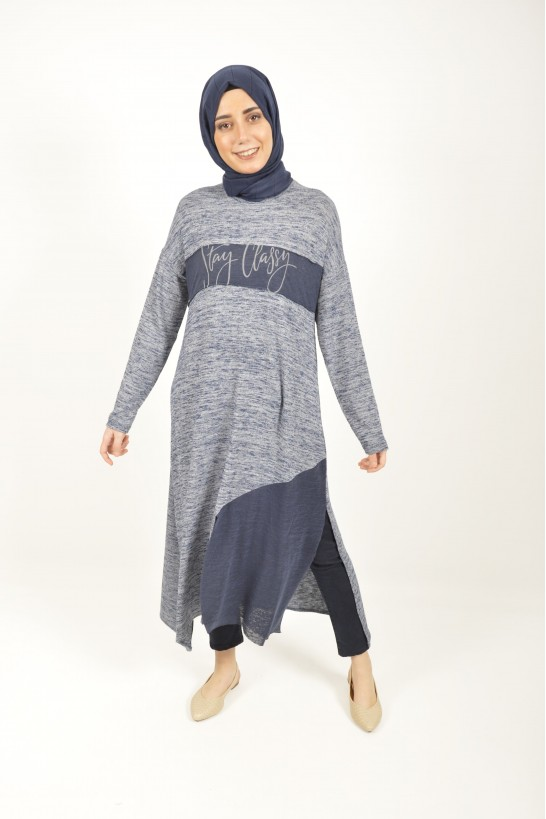 Asymmetric Cut Printed Tunic