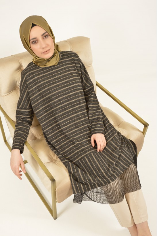 Glitter Striped Tunic