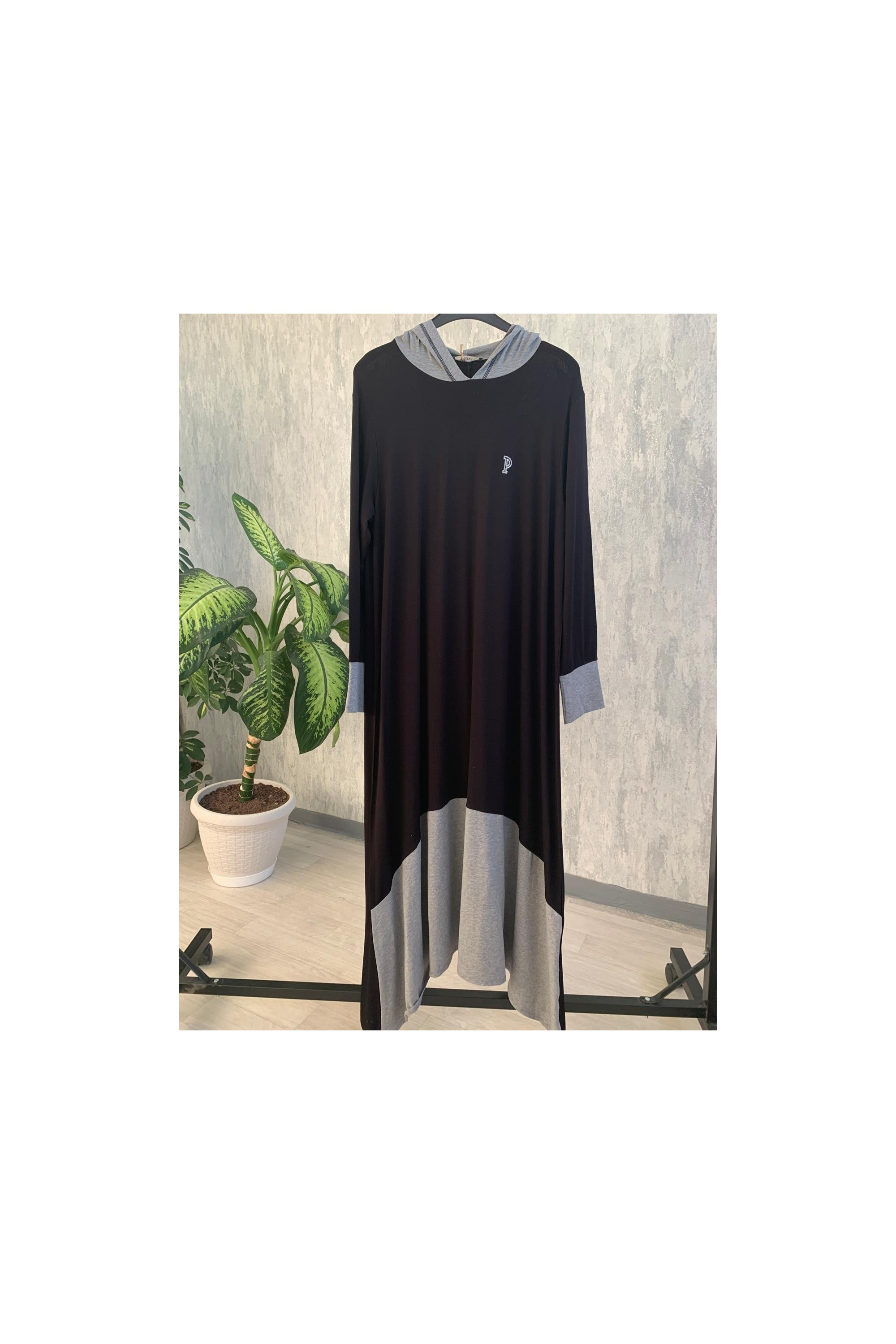 Embroidered Hooded Dress