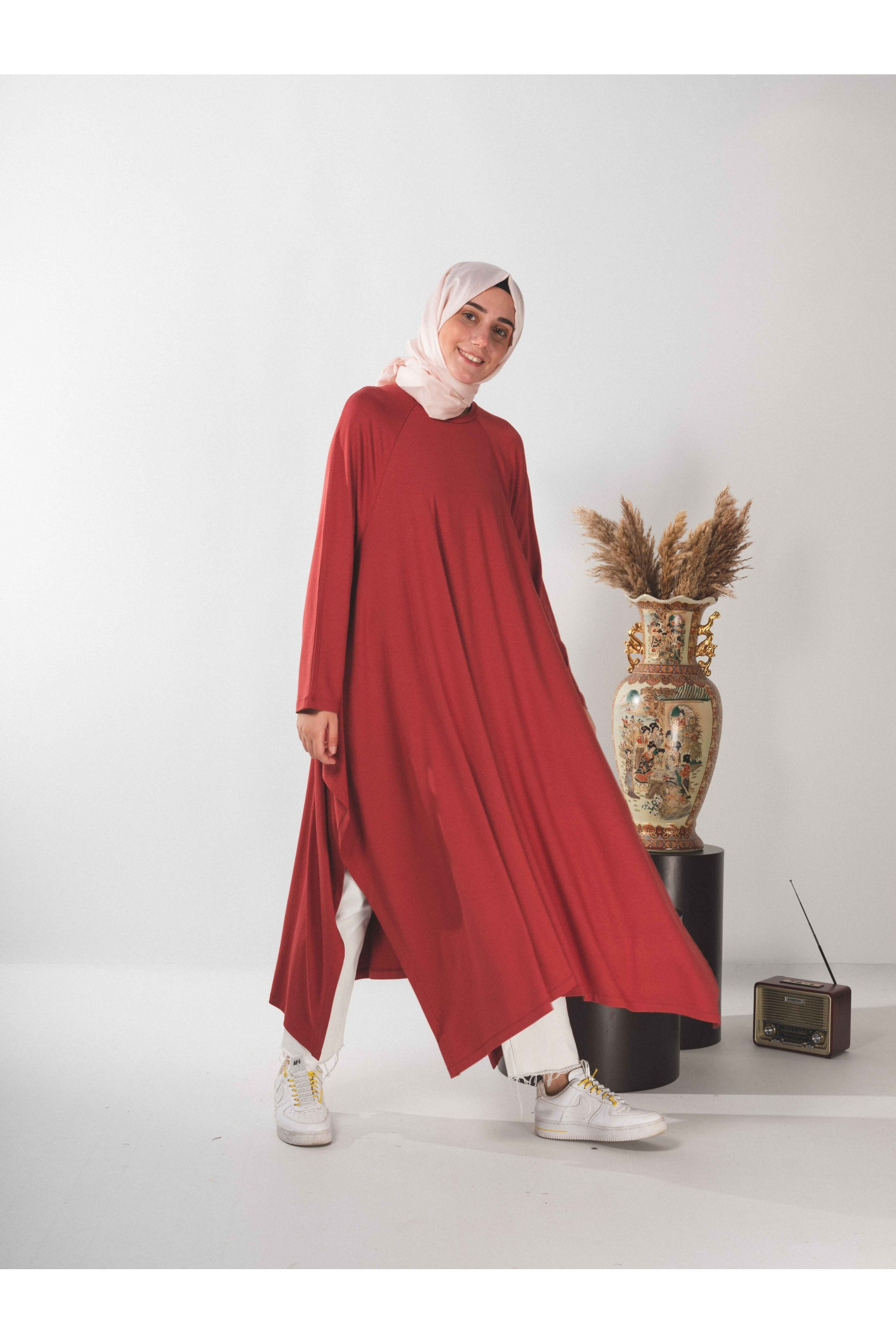 Asymmetric Cutting Long Tunic