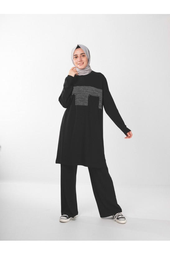 Pocket Detailed Oversize Tunic & Pants Set