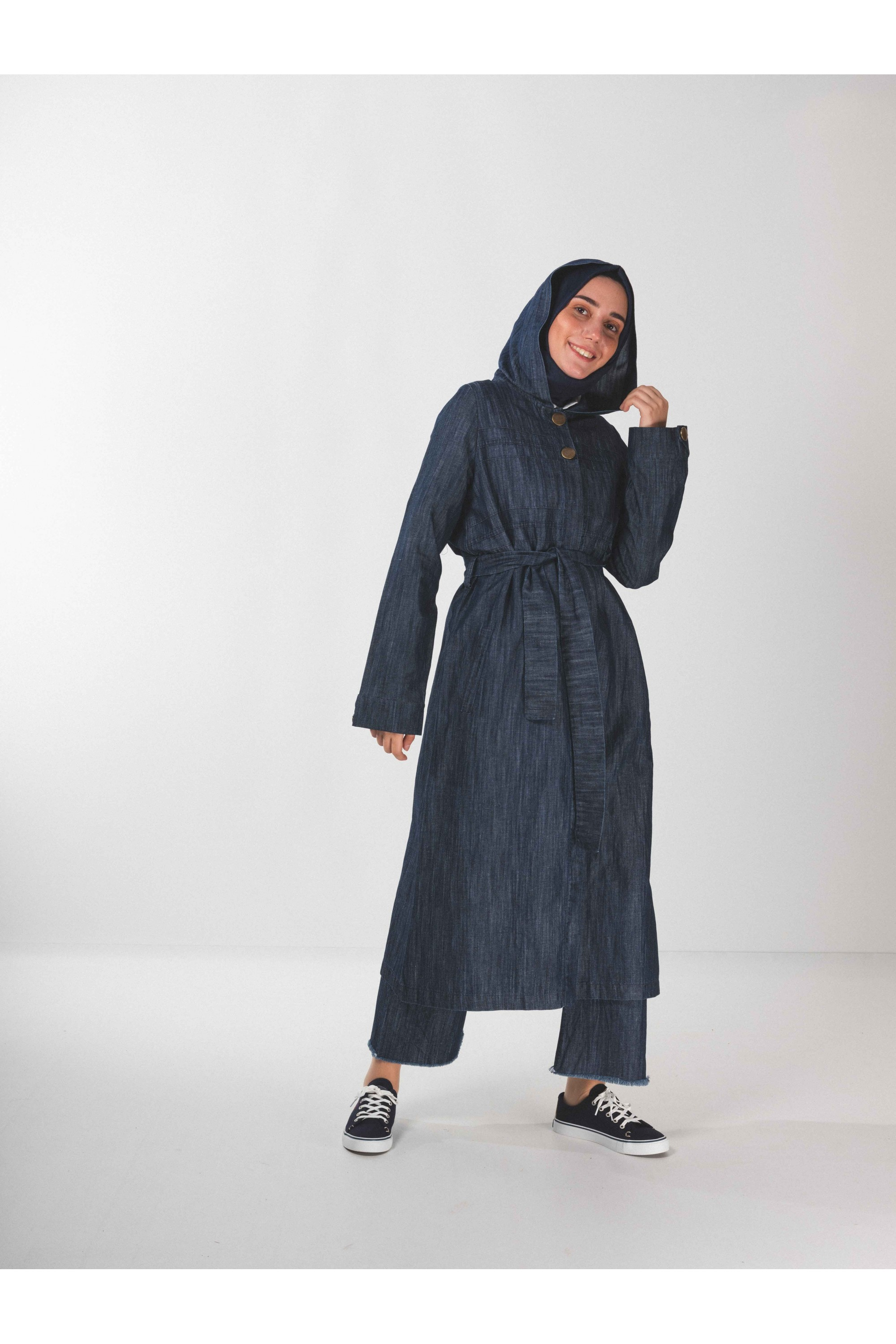 Buttoned Jeans Top Coat