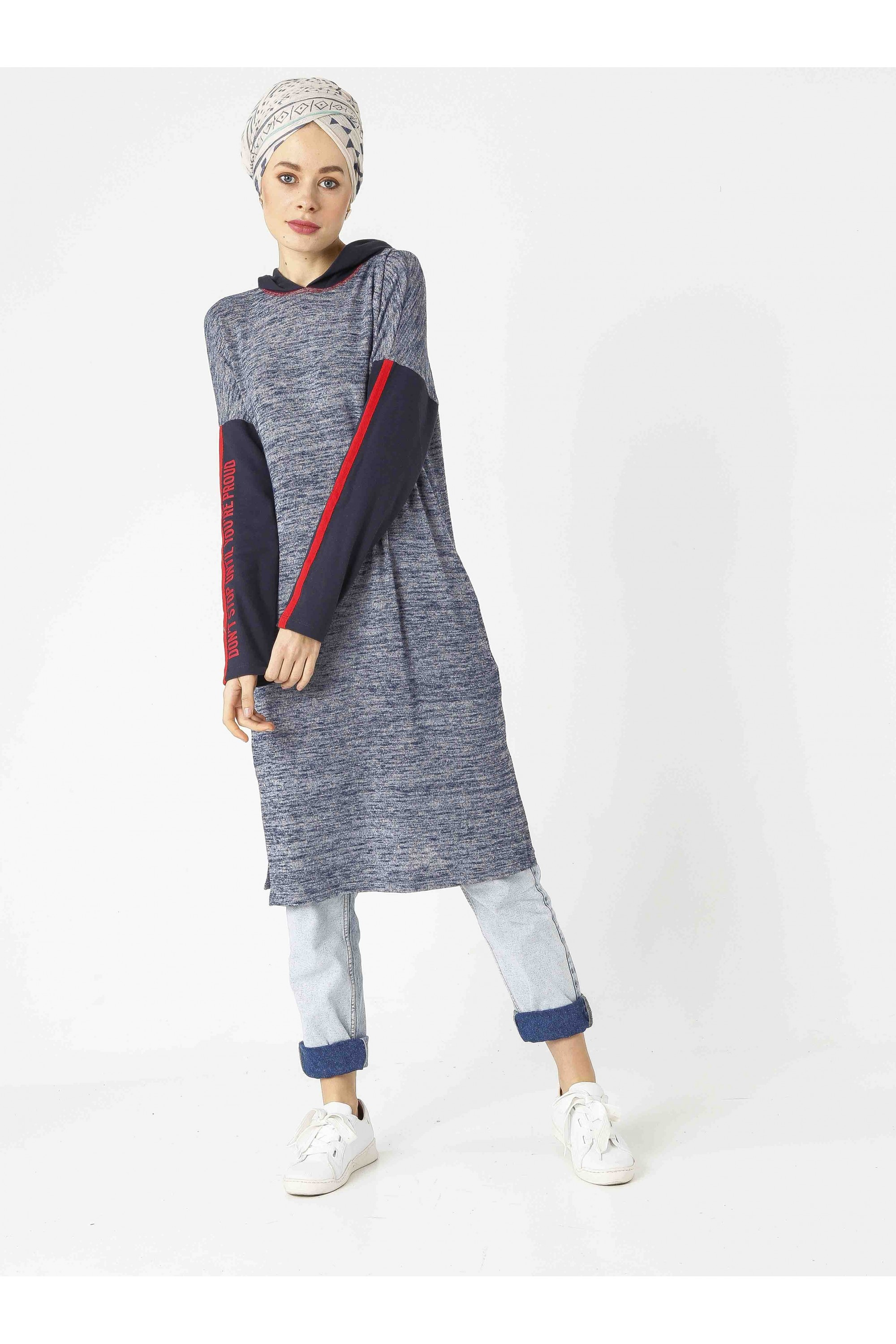 Hoodie Sport Knit Tunic
