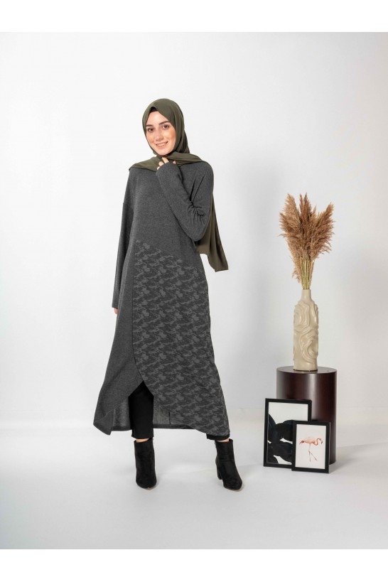 Long Tunic With Patterned Piece