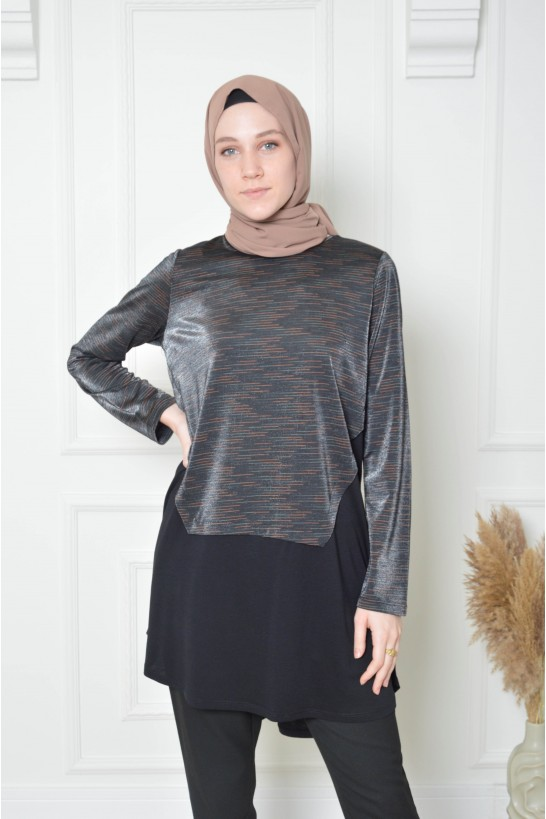Tunic with Glithered Pieces