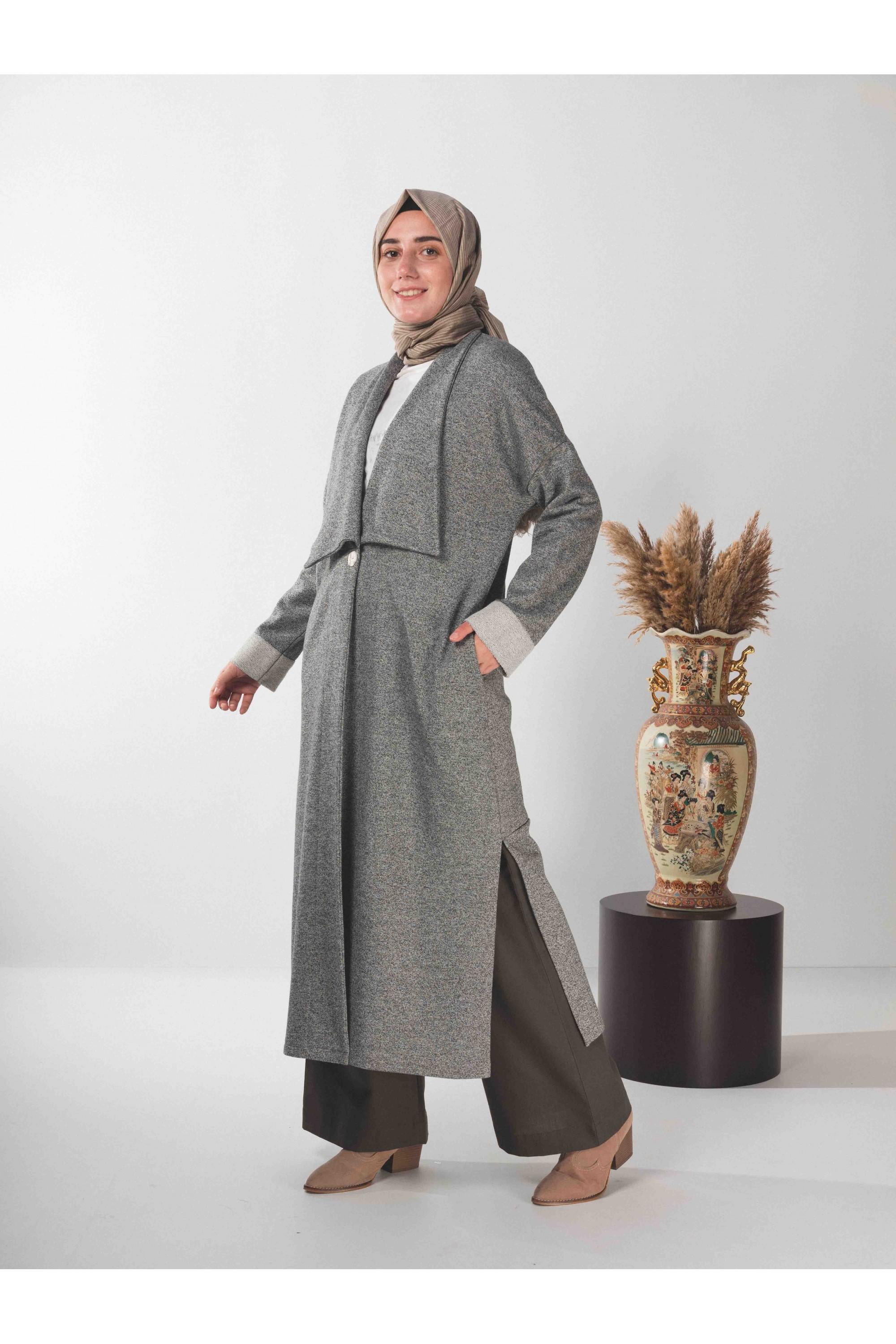 tunic & cardigan double suit