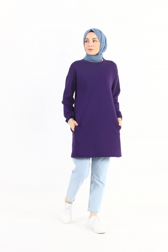 PatteOversized sweatshirt with pockets and inside pockets