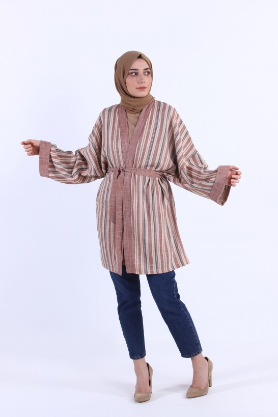 Striped Linen Kimona