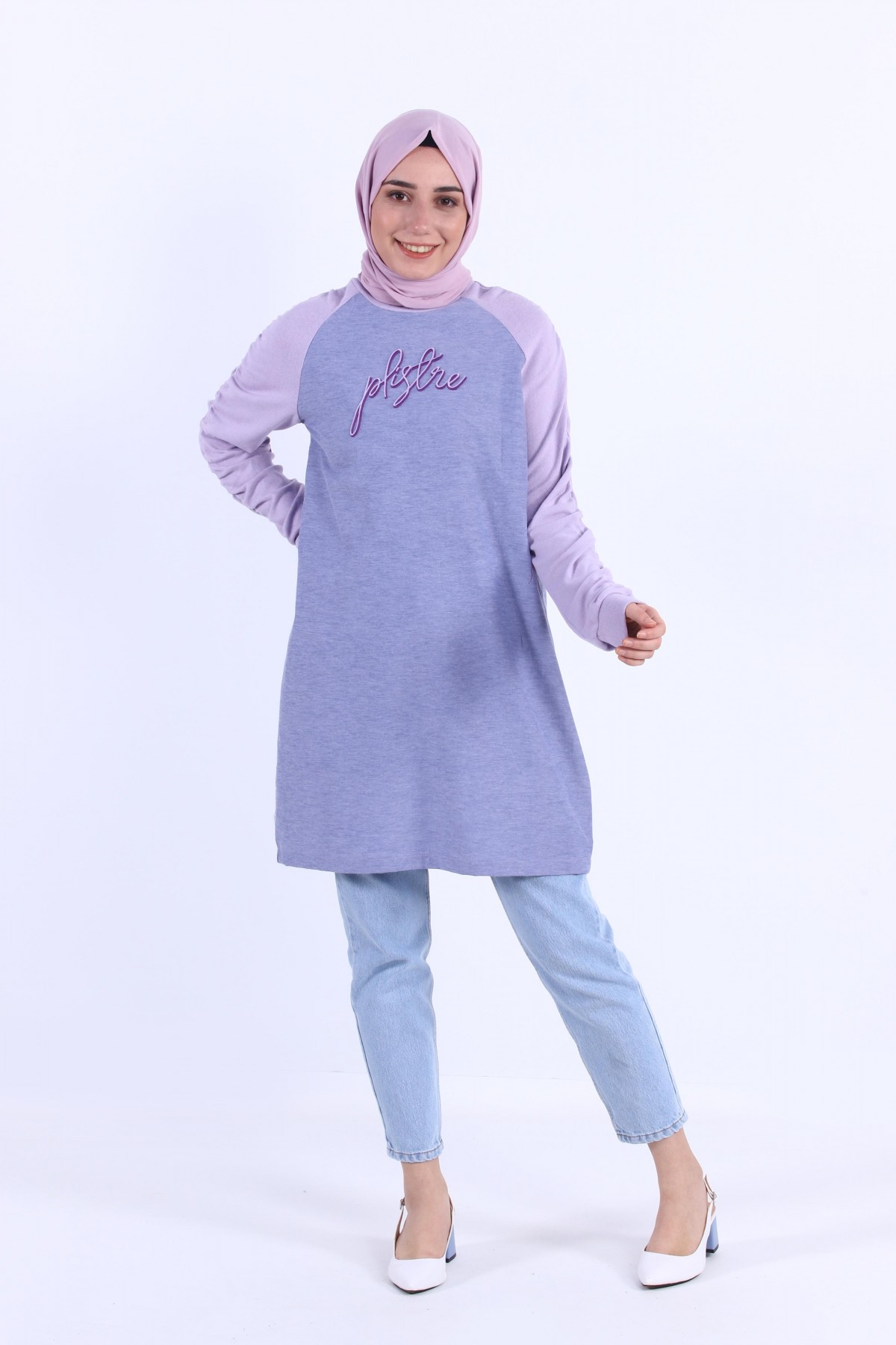 Sleeve Gathered Tunic