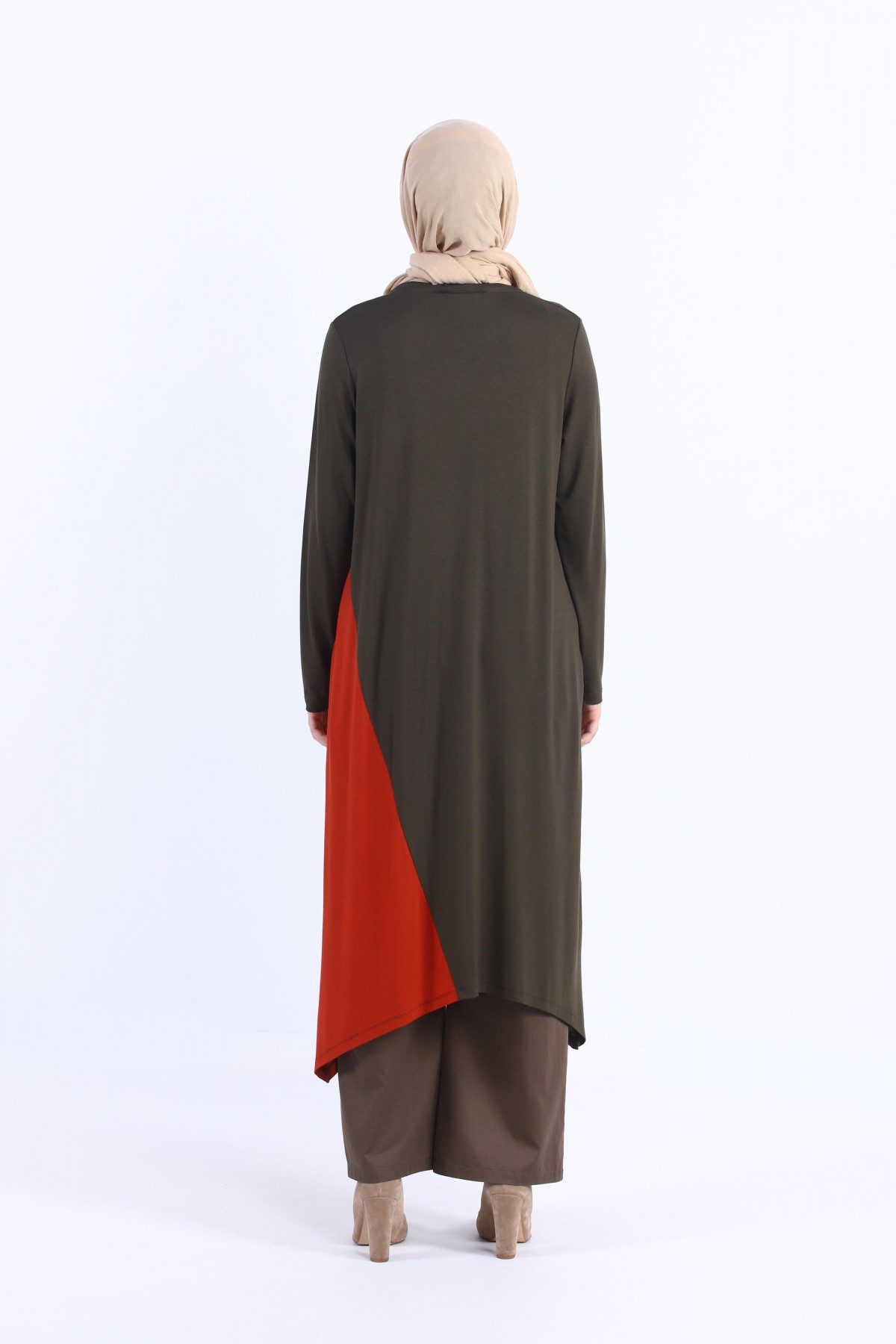 Asymmetric Cut Two Color Tunic