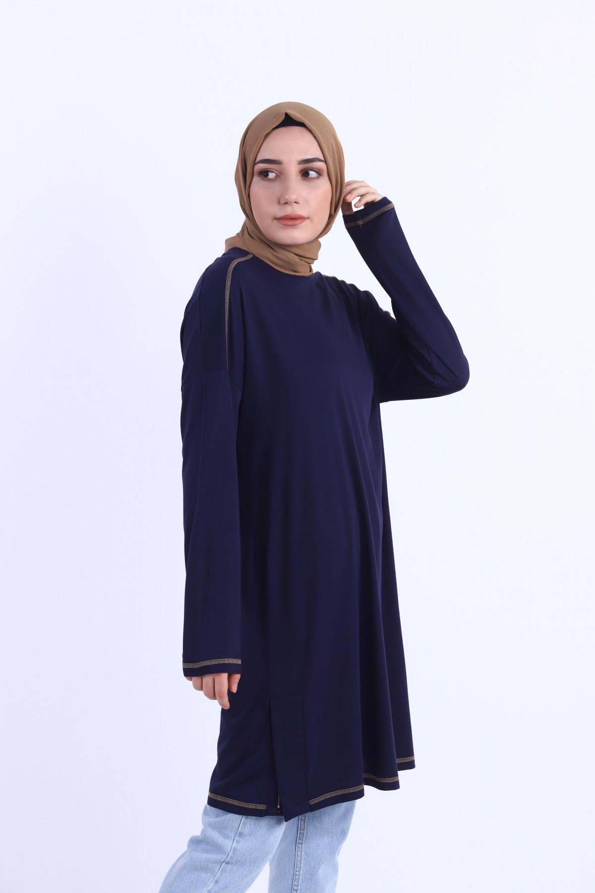 Embroidered Piping Tunic