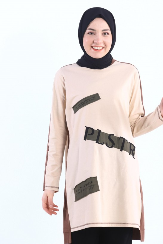 Printed Patch Detailed Tunic