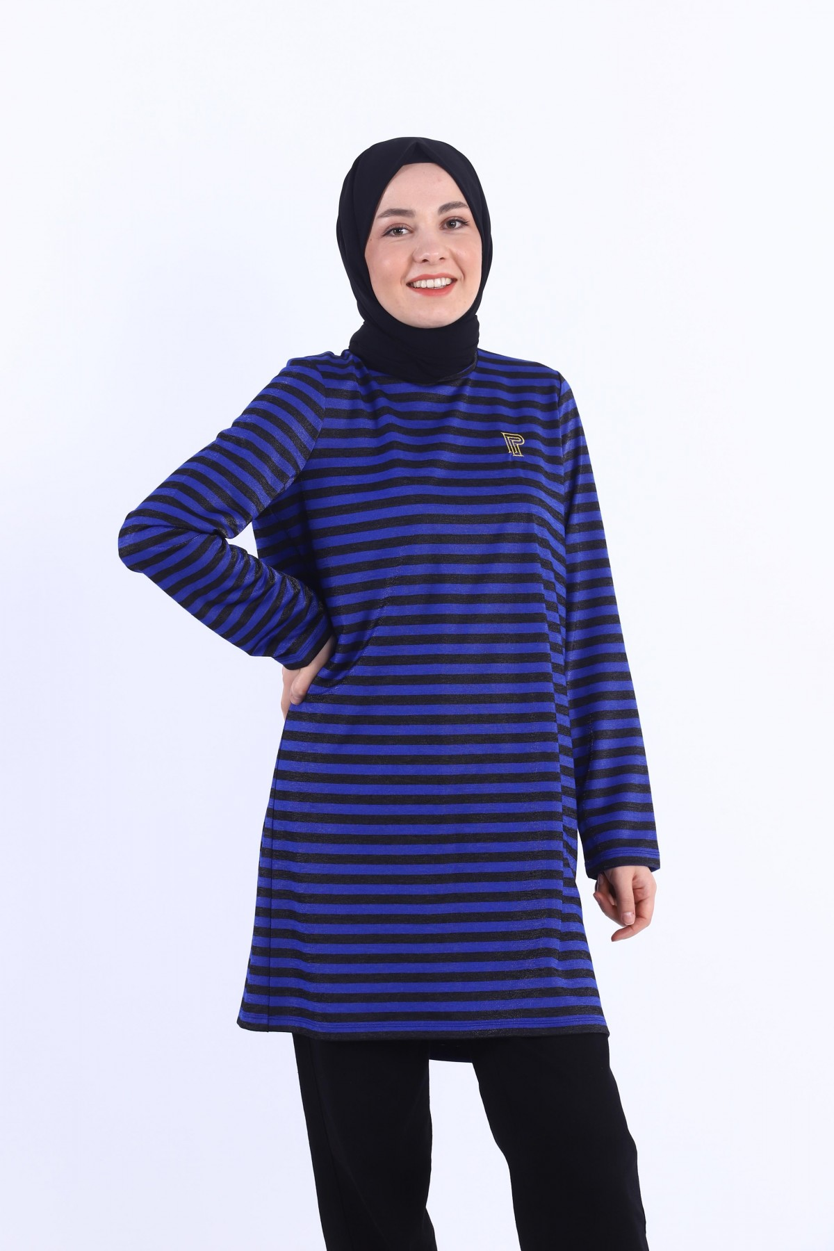 Embroidered Striped Tunic