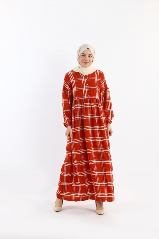 Plaid Oversize Dress