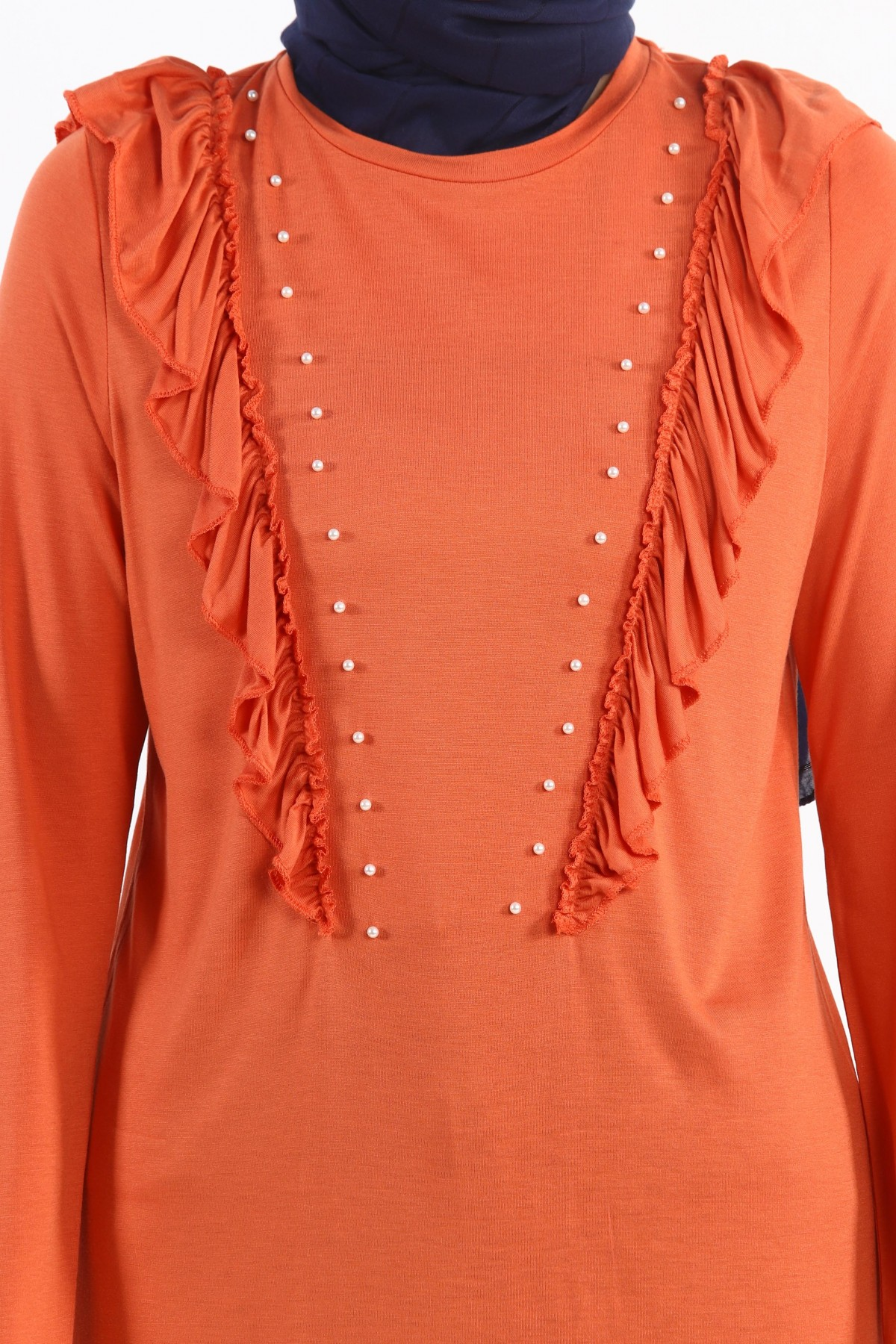 Pearly Frilly Tunic