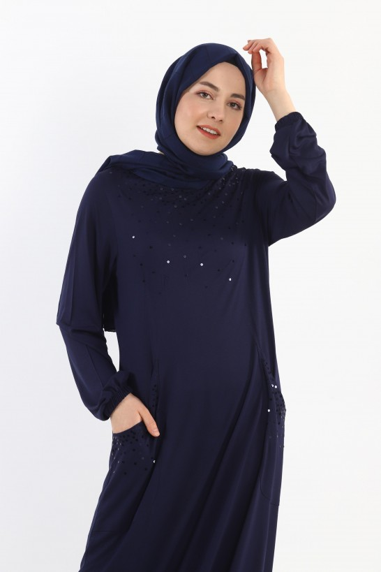 Sequined Pocket Knitted Dress