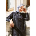 Tencel Jean Shirt with Pear Detail