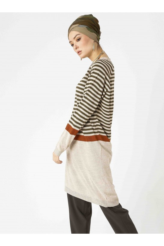 Stripe Knit Tunic